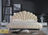 寝室の家具、現代革ベッド(888)