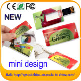 Mecanismo impulsor de destello de la tarjeta de crédito de la pluma del USB del asunto al por mayor para la muestra libre (EC050)