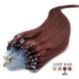 Preto indiano Brown da extensão do cabelo do laço do anel do cabelo humano de Remy micro louro
