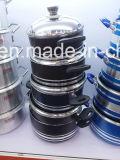 Sopa Wok não revestida em alumínio revestido de alumínio para conjuntos de panelas Sx-Yt-A029