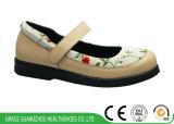 4 ботинка Mary Jane протезных ботинок женщин цветов широких вскользь