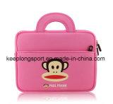 Caixa cor-de-rosa elegante do portátil do neopreno com olá! logotipo da vaquinha
