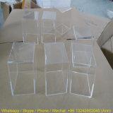 Cadre transparent fait sur commande d'espace libre de cadre de cube en étalage de perspex, boîte de présentation acrylique