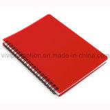 Nuevo cuaderno espiral llegado de la cubierta plástica barata al por mayor de los PP (PPN226)