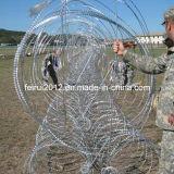 Les obstacles militaires et policiers Mobile Security barbelés