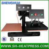 Double machine pneumatique de presse de la chaleur de stations dans la taille différente à vendre