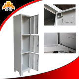 Knock Down Steel Three Door Metal Locker