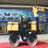Hydraulische doppelte Trommel-Vibrationshandrollen-Verdichtungsgerät mit berühmtem Dieselmotor (FYL-800C)