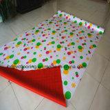 بلاستيكيّة فينيل أرضية مع أحمر لباد ظهارة