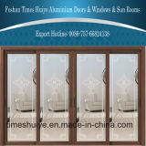 Puertas deslizantes de aluminio del precio competitivo del fabricante de Foshan