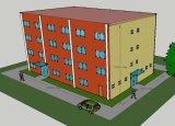 Полуфабрикат здание стальной структуры для высокопоставленной гостиницы