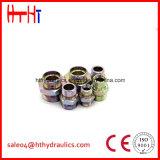 macho de 1ci/1di-Rnw Metirc 24 cones do grau/adaptador hidráulico banjo métrico do Manufactory do adaptador da mangueira