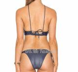 2 части повелительницы Кожи Микро- Мини Бикини Swimwear сексуальной открытой