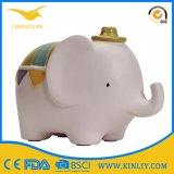 Rectángulo de cerámica de encargo del ahorro del dinero de la boda de la batería de moneda de la batería guarra