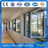 Marco de aluminio plegable de cristal templado de ventanillas / deslizante plegable de cristal de ventana