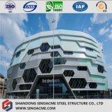 Estadio de estructura de acero con diseño moderno