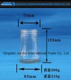 Опарник варенья стеклянной бутылки качества еды с картиной