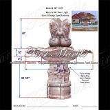 Fontaine rouge Mf-1039 de Ny de jardin en pierre de marbre de granit