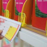 PVC Extrusion variopinto Price Label Holder 40mm della plastica
