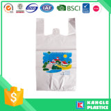 Sacchetto di plastica della maglietta giro collo di prezzi di fornitore per acquisto