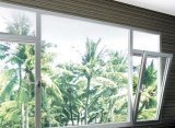 Die weiße Aluminium Farbe Kippen-Drehen Fenster mit Doppelverglasung-ausgeglichenem Glas