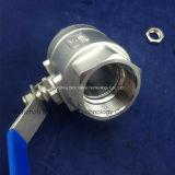 Gewinde-Kugelventil des Edelstahl-2PC mit Cer-Bescheinigung