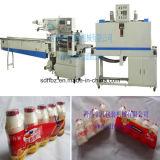 El PLC controla la empaquetadora automática llena de Shink de las botellas de leche