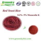 De rode Rijst van de Gist