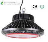 UFO LED 100-130lm/W黒い箱が付いている高い湾ランプCRI80および3030SMD Bridgeluxチップ