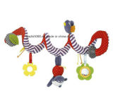 통과된 안전한 증명서 가르랑거리는 소리를 가진 신생 거는 장난감