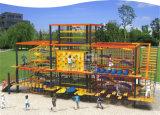 De OpenluchtSpeelplaats van de Kinderen van Kaiqi met het Beklimmen, het Lopen, de Activiteiten van het Avontuur Crawlinjg (KQ60107A)
