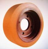 Rueda de la PU con el centro del hierro para las guarniciones de la carretilla elevadora