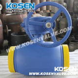Sem-fim Gear Full Welded Ball Valve para Gas
