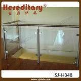 L'escalier d'acier inoxydable partie le système de balustrade/pêche à la traîne en verre (SJ-H052)