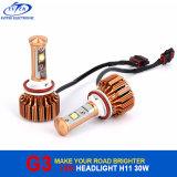 크리 사람 칩을%s 가진 차 LED 점화 제품 V16 터보 30W 3000lm H11 차 LED 헤드라이트