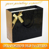 Black&Gold Paper Gift Bags con Handles (BLF-PB108)