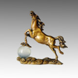 Statua d'ottone Tpal-004 della scultura Bronze della decorazione animale del cavallo