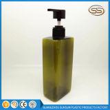Quadratische transparente Farben-Shampoo-Karosserien-Seifen-Flasche