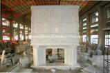 Camino di marmo bianco di pietra naturale con il prezzo basso (SY-MF146)