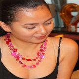 El cristal hecho a mano del collar de la resina de la manera rebordea el collar de los conjuntos de la joyería con los pendientes
