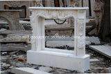 Белая каминная доска камина Carrara мраморный в штоке (SY-MFP12302)