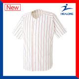 Camisa quente de Jersey do basebol dos adolescentes do espaço em branco da venda de Healong