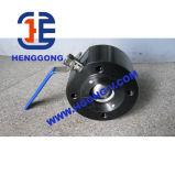 DIN/ANSI forjou a válvula de esfera da flange da bolacha do aço de molde