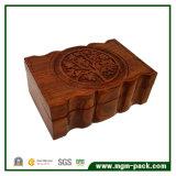 Ретро подгоняйте лазер гравируя деревянную коробку для подарка