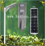 3 Jahre Garantie-angewendet in 50 Straßenlaterne-Solarpreisliste der Länder ISO-Cer Diplom30w angeschaltener Energie-LED