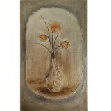 목제 프레임 (LH-151000)가 중국 유화 꽃 정물화에 의하여 꽃이 핀다