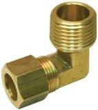 Le compresseur d'air partie le coude en laiton ou en acier