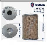 Scania 1381235のための本物の部分のカートリッジ石油フィルター