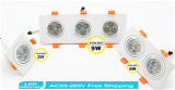 9W wärmen weißes Quadrat-Aluminiumhohe Leistung Dimmable LED Downlight