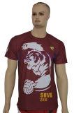 Vente en gros T-Shirts personnalisés pas chers sur mesure Polyester blanc (T001)